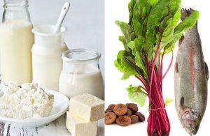 کلسیم در مواد غذایی
