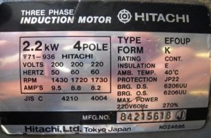 پلاک خوانی الکتروموتور
