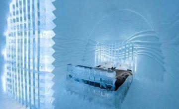 هتل یخی در سوئد + عکس
