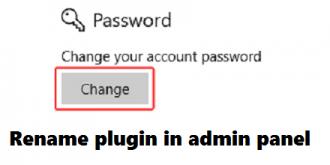 افزونه تغییر نام کاربری در پنل مدیریت