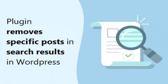 افزونه حذف پست های خاص در نتایج جستوجو