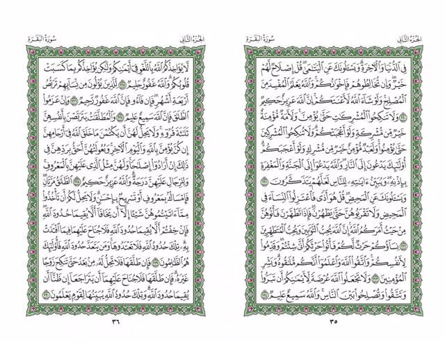 صفحه 35 قران (سوره بقره) - استخاره با قران