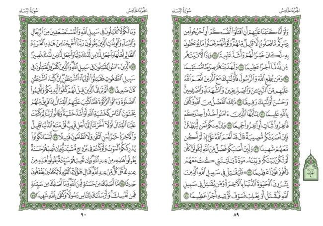 صفحه 89 قران (سوره نساء) – استخاره با قران
