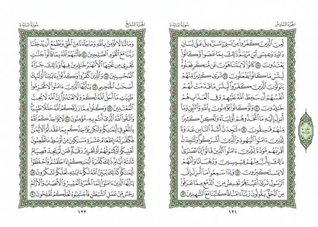 صفحه 121 قران (سوره مائده) – استخاره با قران