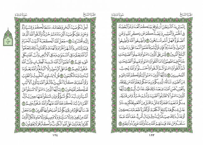 صفحه 123 قران (سوره مائده) – استخاره با قران