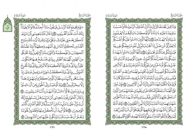 صفحه 125 قران (سوره مائده) – استخاره با قران