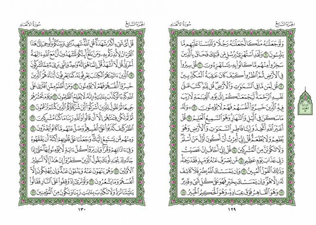 صفحه 129 قران (سوره انعام) - استخاره با قران