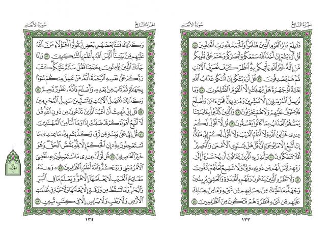 صفحه 133 قران (سوره مائده) – استخاره با قران