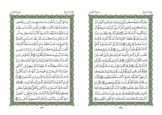 صفحه 135 قران (سوره مائده) – استخاره با قران