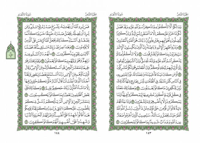 صفحه 143 قران (سوره مائده) – استخاره با قران