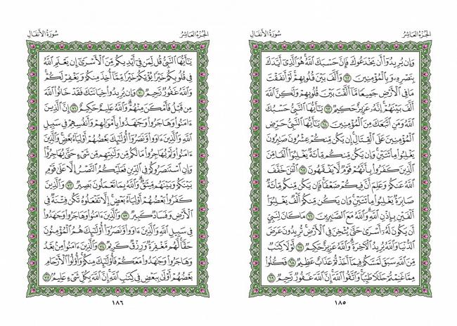 صفحه 185 قران (سوره انفال) - استخاره با قران