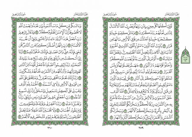 صفحه 259 قران (سوره ابراهیم) - استخاره با قران