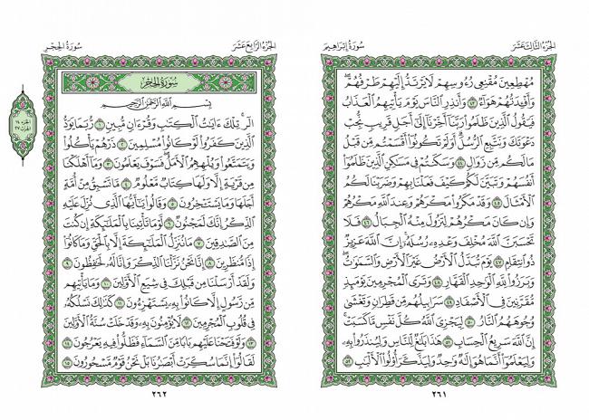 صفحه 261 قران (سوره ابراهیم) - استخاره با قران