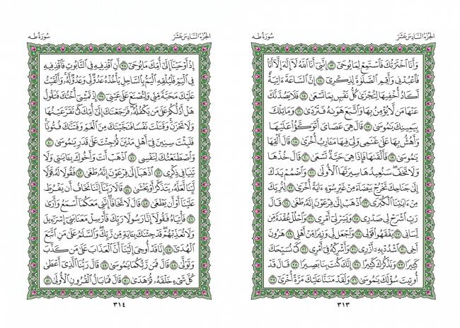 صفحه 313 قران (سوره طه) - استخاره با قران