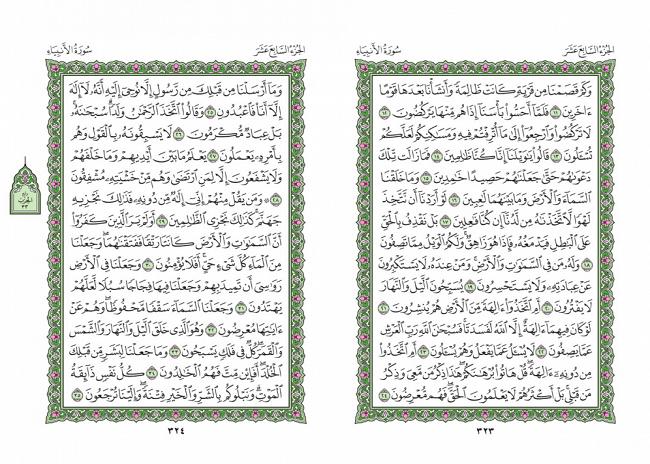 صفحه 323 قران (سوره انبیا) - استخاره با قران