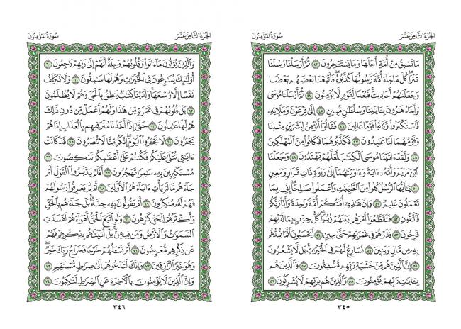 صفحه 345 قران (سوره مومنون) - استخاره با قران