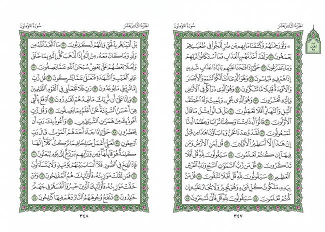 صفحه 347 قران (سوره مومنون) - استخاره با قران