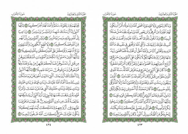 صفحه 423 قران (سوره احزاب) - استخاره با قران