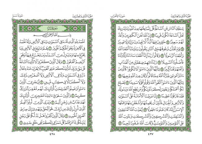 صفحه 427 قران (سوره احزاب) - استخاره با قران