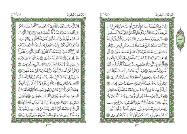 صفحه 431 قران (سوره سبا) - استخاره با قران