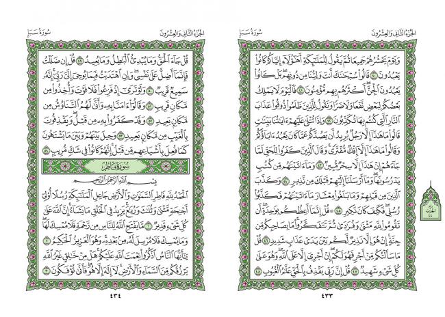 صفحه 433 قران (سوره سبا) - استخاره با قران
