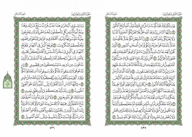 صفحه 435 قران (سوره فاطر) - استخاره با قران