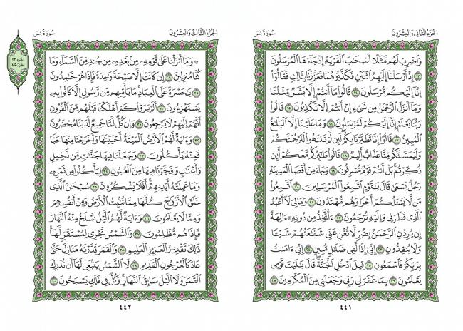 صفحه 441 قران (سوره یس) - استخاره با قران