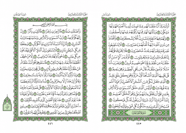 صفحه 445 قران (سوره یس) - استخاره با قران