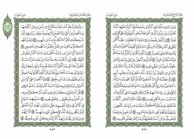 صفحه 481 قران (سوره فصلت) - استخاره با قران