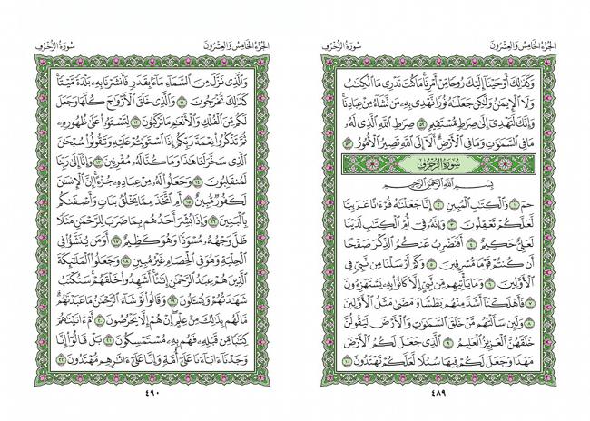 صفحه 489 قران (سوره شوری) - استخاره با قران