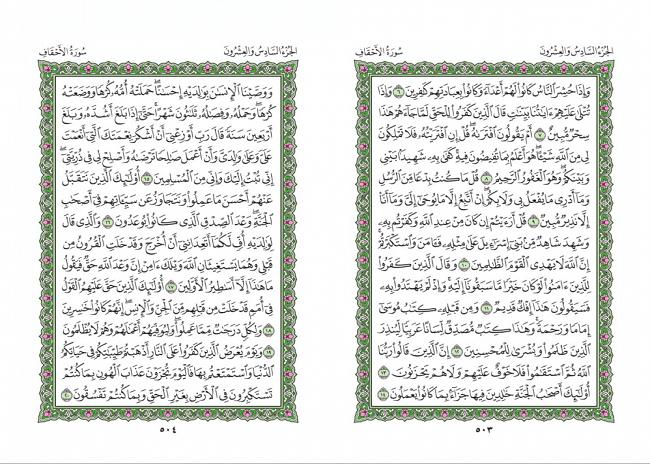 صفحه 503 قران (سوره احقاف) - استخاره با قران