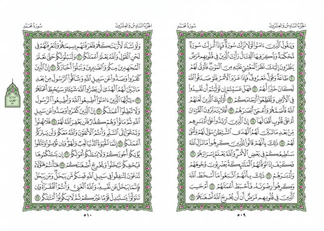 صفحه 509 قران (سوره محمد) - استخاره با قران