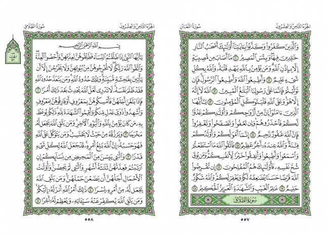 صفحه 557 قران (سوره تغابن) - استخاره با قران