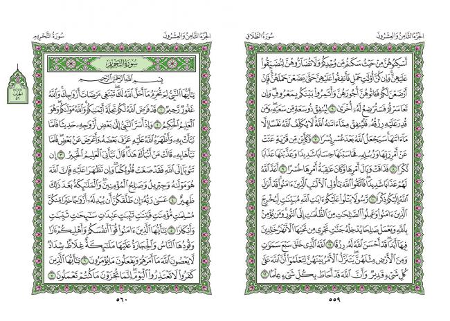 صفحه 559 قران (سوره طلاق) - استخاره با قران