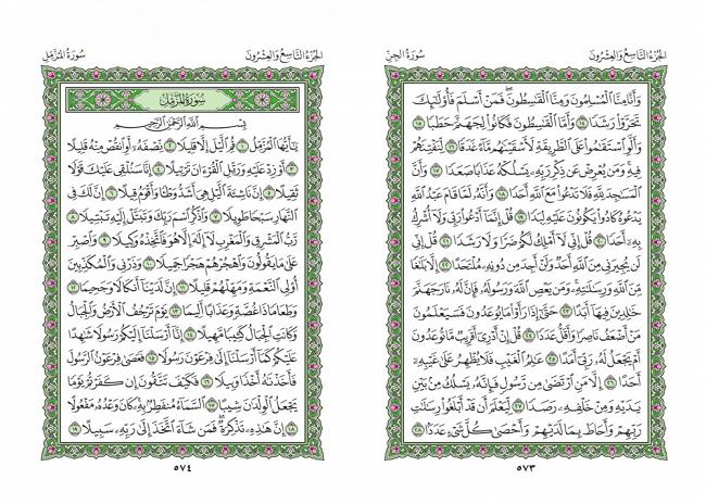 صفحه 573 قران (سوره جن) - استخاره با قران